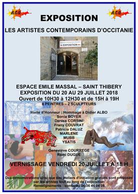 Affiche Exposition Espace Massal à Saint Thibéry du 20 au 29 juillet 2018